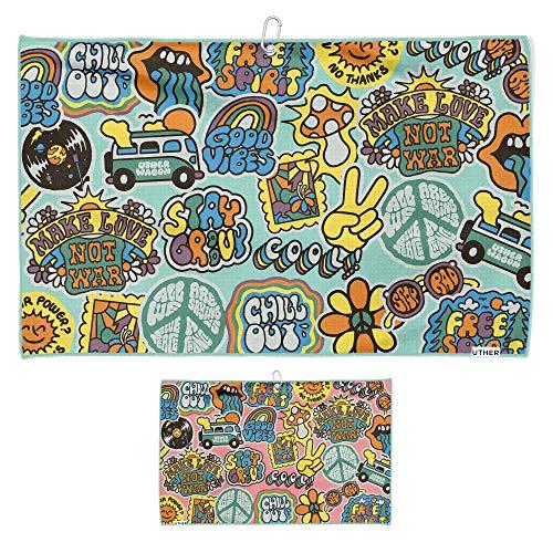 Uther Golf Towel - CART - 20+ Original Designs (Peace Trip)