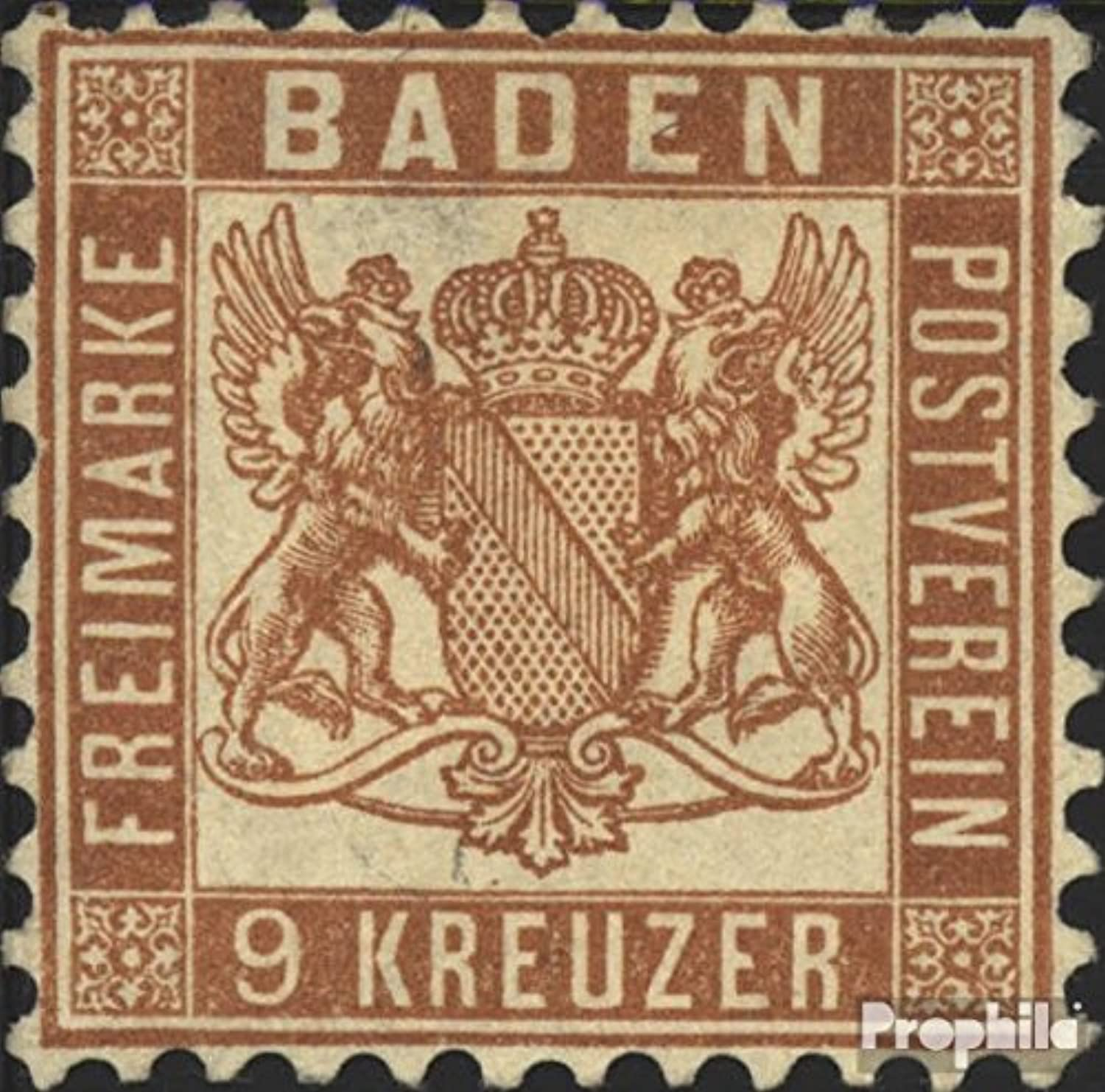 Baden 20ba Splendor Tested 1864 Crest (Stamps for Collectors)