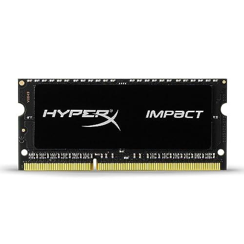 Kingston HyperX Impact Black 8 GB 1600 MHz DDR3L CL9 SODIMM 1.35 V – Memoria para laptop (HX316LS9IB/4)