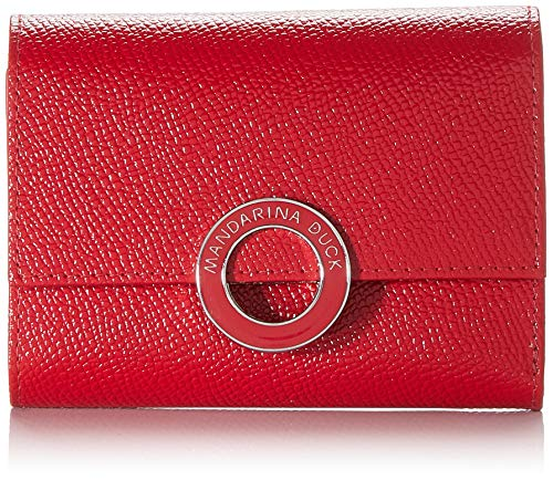 Mandarina Duck Deluxe, cartera. para Mujer, Rojo (Flame Scarlet), 1.5x9x12 Centimeters (W x H x L)