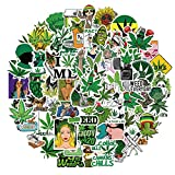 Weed Stickers for Adults - Trippy Stickers Pack of 100 PCS Leave Stickers and Decals - Vinyl Waterproof Funny Stickers for Laptop Phone Bike Bumper