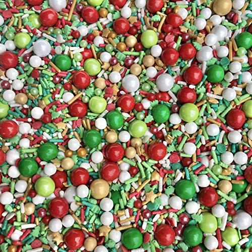 Elfin Around Spring Medley | Christmas Sprinkles | Cookie Sprinkles | Cake Sprinkles | Holiday Sprinkles | Jimmies | Manvscakes | 8 Ounce Bag (8 ounce)