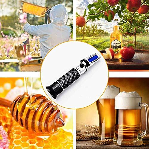 Ketotek Portable Brix Beer Refractometer with ATC for Beer Wort Wine Fruit Sugar Homebrew Meter Brix 0-32% Specific Gravity 1.000-1.130 Replace Homebrew Hydrometer