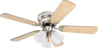 Prominence Home 50863 Whitley Hugger Ceiling Fan with 3 Light Fixture, 42