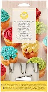 Wilton 0262054 Set 12 Outils DE Base pour LA DÉCORATION DE Cupcakes, Plastique, Argent