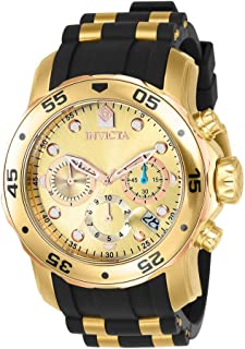 Men's 17884 Pro Diver 18k Gold Ion-Plated Stainless Steel...