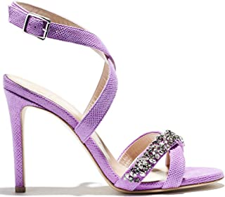 Indiano Pelletteria Amelia- Strappy Sandals in Purple