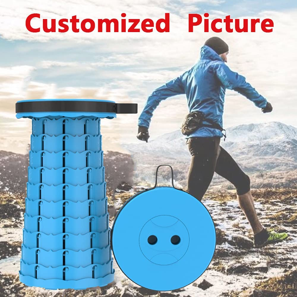 Camping Stool for Travel//Hiking//Fishing//Garden Picnic Camping Stool with Holding 330Ibs Foldable Stool with Hands Rope Portable Folding Stool ENOKER Adjustable Camping Stool Black