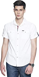 OJASS Men's Solid Casual White Shirt ()