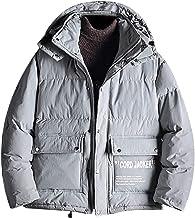 Alalaso Men's Winter Warm Faux Spliced Padded Long Down Alternative Parka Coat Fur Hood
