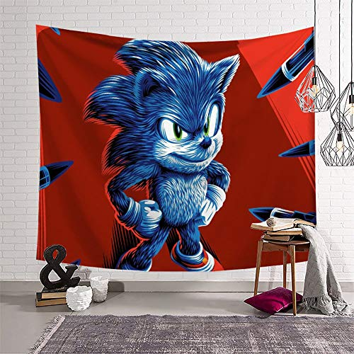 Decoration for Living Room Tapestry Sonic The Hedgehog for Wall Wall-Mounted Tapestry (150x210cm)