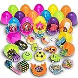 Prextex 30 mit Mini-Spielzeug und spaßigen Sachen gefüllte Ostereier