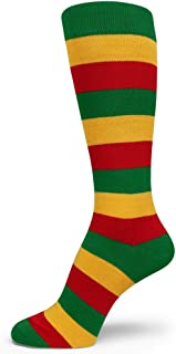 Spotlight Hosiery Elite Quality Colorful Soft Cotton Two Color Striped Mens Dress Socks