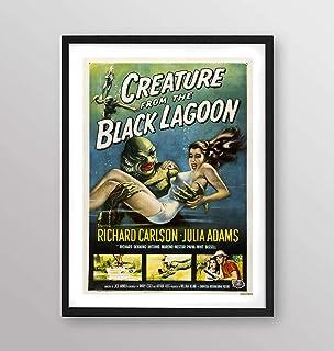 Poster incorniciato - Il mostro della laguna nera locandina film 1954 - Artyexpress Made in Italy