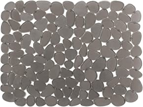 Sink Mat BliGli PVC Eco-friendly Kitchen Adjustable Sink Mat Pad Pebble Sink Protector,15.8 x 11.8 inches,Rectangle, 1Pack