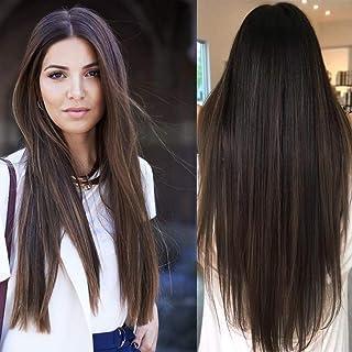 Haare dunkelbraune Haare