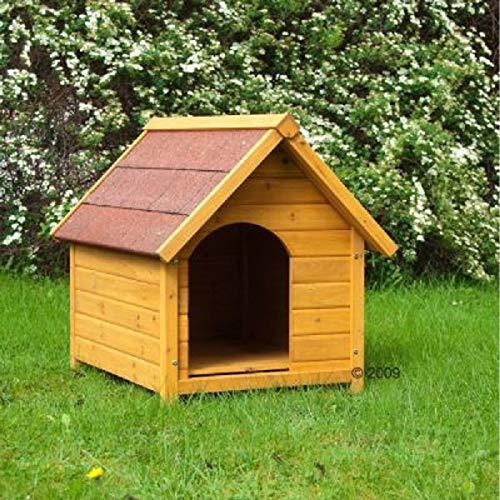 Madera maciza–Caseta de perro con entrada lateral Casa para todo el año–Perro de un gran y atractivo Vivienda
