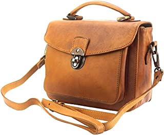 FLORENCE LEATHER MARKET Borsa a mano in pelle donna 28x10x22 cm - Montaigne Gm - Made in Italy