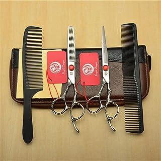 Professional Barber High-End 6,0 Inch Hair Snijden Scharen Verdunnende Shears 9CR Steel Silver 4 delige Set Kappen Styli...