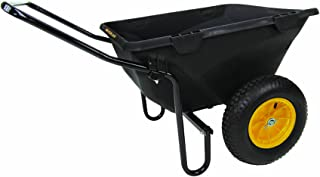 Polar Trailer 8449 Heavy Duty Cub Cart, 50 x 28 x 29-Inch 400 Lbs Load Capacity 7 Cubic Feet Tub Rugged Wide-Track Tires Utility and Hauling Cart, Black