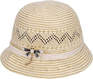 Hats Breathable Outdoor Hat Spring and Summer Women's Straw Hat Fashion (Color : Beige, Size : M)