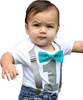 Noah's Boytique First Birthday Outfits for Baby Boys with Bow Ties and Suspenders