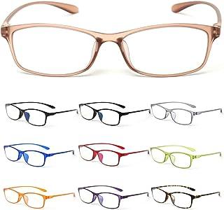 MIDI-ミディ 10カラーで遊べる老眼鏡 【Colors】 おしゃれ レディース メンズ ブルーライトカット クリアブラウン (M-209,C4,+2.00)