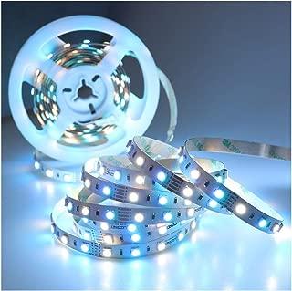 LEDENET LED Light Strip 16.4FT SMD 5050 12V RGB Cold White 300LEDs Flexible RGBW Tape Ribbon Lamp Non-Waterproof