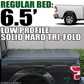 Topline Autopart Low Profile Tri Fold Hard ABS Truck Bed...