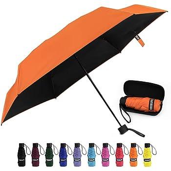 Yoobure Small Mini Umbrella with Case Light Compact Design Perfect for Travel Lightweight Portable Parasol Outdoor Sun&Rain Umbrellas