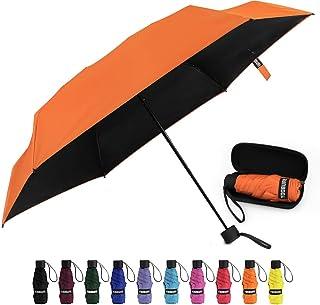 Jacksome Burnt Orange Travel Umbrella Automatic Open /& Closed Windproof Folding Umbrellas Vinyl Umbrella for Men and Women Folded