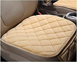 XuCesfs Winter Universele Pluche Houd Warm Anti Slip Autostoel Rooster Kussen Cover Protector Mat (Kleur: Beige)