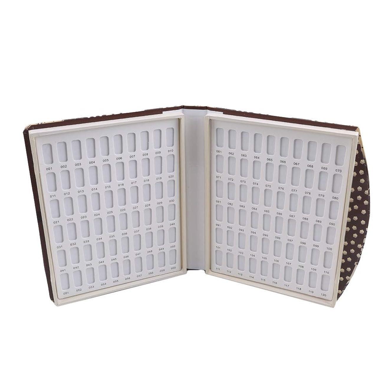 裏切り者アンドリューハリディ公爵夫人Largesoy カラーチャートブック 折り畳み式 ネイルマニキュアカラー色見本 ネイルカラーチャート 120色/80色 サンプル帳 色見本帳 1# 長さ*幅*厚さ22*19*3cm