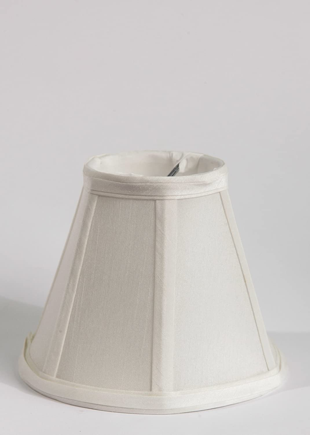 Urbanest Faux Silk Empire Chandelier Lamp Shade 3 Inch By 6 Inch By 5 Inch Off White Clip On Hardback Lampshades