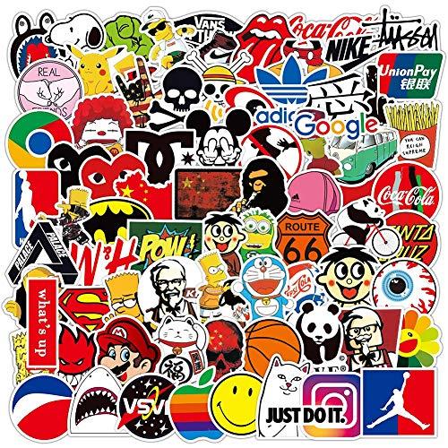 Paquete de Pegatinas de Marca Genial,COTEY 200 Piezas Pegatinas Vinilo,Al Azar Sticker,Graffiti...
