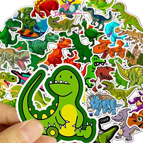 BUCUO Dinosauro Tirannosauro Bambini Cartone Animato Valigia Trolley Portatile Chitarra Adesivi Rimovibili Impermeabili 50 Pz