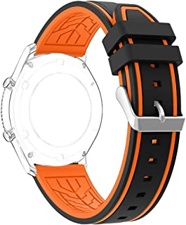 Gear S3 Frontier/Classic Watch Band, Rosa Schleife 22mm Silicone Watch Replacement Band with Stainless Steel Clasp Buckle for Samsung Gear S3 Frontier/Gear S3 Classic (NOT Include Connection Adapter)