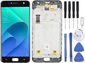New LCD Screen and Digitizer Full Assembly with Frame for Asus Zenfone 4 Selfie ZB553KL X00LD X00LDA (Black) HuangFF (Color : Black)