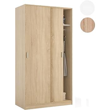 Armario dos puertas madera pino color miel: Amazon.es: Hogar