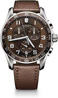 Victorinox Swiss Army XLS 241653 Brown Dial Leather Strap Watch for Men