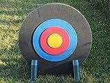 Promeus AG Zielscheibe Bogenschießscheibe Bogenschießen 80 cm rund mit integrierter Auflage und Zielscheibenständer/Bogenscheibe Bogenzielscheibe Set