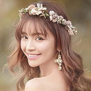 Damigelle D/'onore Da Sposa Cristallo Perla Bianco /& GOLD Multicolore Rose Per Capelli Diadema Vite
