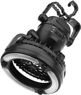 LEDGLE LEDランタン キャンプライト led テントランタン ファン付き 扇風機 2.5w テント照明 アウトドア テント 野営 登山 防災 避難 停電 非常用 懐中電灯 電池式 ブラック