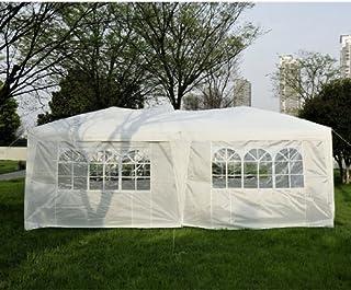 Homcom 6 x 3 M Garten Heavy Duty Pop Up Pavillon Festzelt Party Zelt Hochzeit Himmel mit gratis Aufbewahrungstasche – Weiß