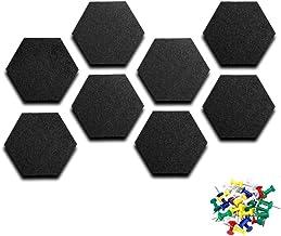 Hexagon Felt Board Felt Memo Pin Board with Push Pins Self AdhesiveCork Notice Decorative Board for Home Office Bulletin ...