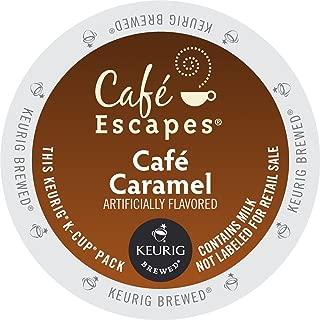 Cafe Escapes Keurig K Cups, Caramel, 0.51oz(14.6g)/netwt 12.3 oz(350g)48 Count