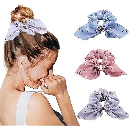3 pack Vintage floral print Scrunchie ponytail holder