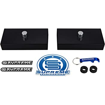 Supreme Suspensions T6 Billet Aluminum Kit 1 Rear Lift Blocks for Models with Single 9//16 Axle Pin Holes