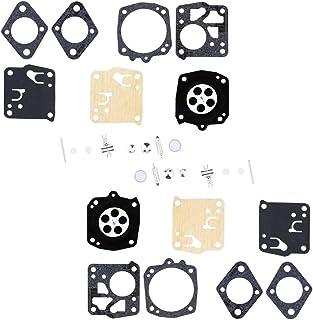 QAZAKY 2 PCS Carburetor Rebuild Repair Kit Replacement for Tillotson RK-23HS RK-17HS Poulan 201 223 245 360 400-450 451 4200 5200 36 Homelite XL SXL915 X-12 Super XL Oleomac 261 251 254 350 481 482