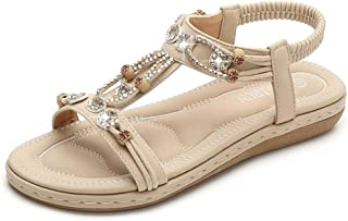 Summer Slippers Women's Summer Pu Leather Wedges Sandals Lightweight Beach Pool Indoor Outdoor (Color : Apricot, Size : 38)